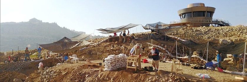 Recent archaeological work being done at the West Bank Shiloh site: Credit: Vimeo Video screen capture/Tim Velasco