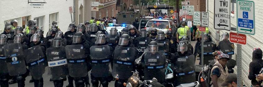 Charlottesville, Virginia protest August 2017 Credit: Evan Nesterak/Wikipedia/Creative Commons