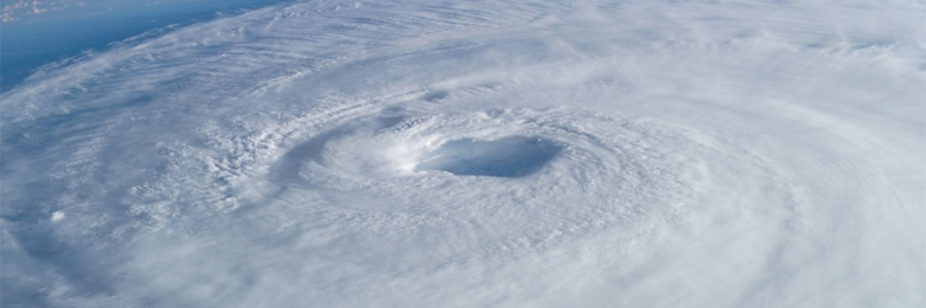 Eye of the hurricane Isabel as seen from the International Space Station. Credit: NASA/Wikipedia