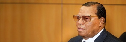 Louis Farrakhan at a press conference in Iran. Credit: Tasnim News Agency/Wikipedia/Creative Commons