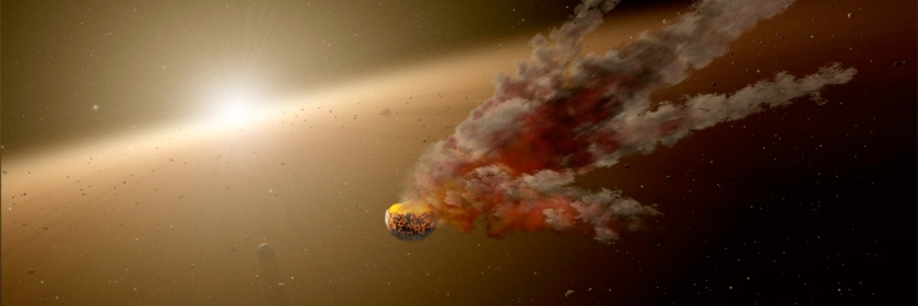 Asteroid collision artist's representation Credit: NASA/Wikipedia