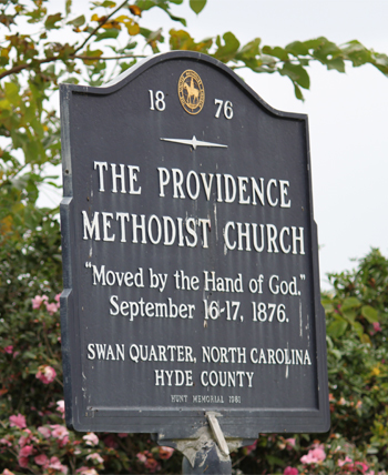 Sign for The Providence Methodist Church, Swan Quarter, North Carolina Credit: Department of Agriculture/Flickr/Creative Commons