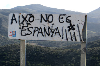 Sign in Catalonia reads in English: This is not Spain Credit: Bertran de Born/Flickr/Creative Commons