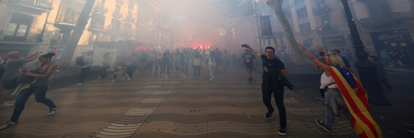 Violence breaks out during Catalonia's vote for independence on October 1, 2017 Credit: Beverly Yuen Thompson/Flickr/Creative Commons