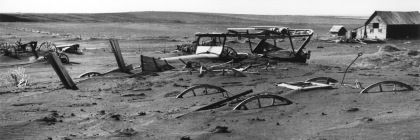 Photo from South Dakota 1936 during the drought that hit North America during the 1930s. Credit: United Stated Department of Agriculture/Wikipedia