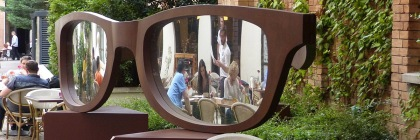 Mirror glasses at a restaurant in Budapest, Hungary Credit: Elekes Andor/Wikipedia