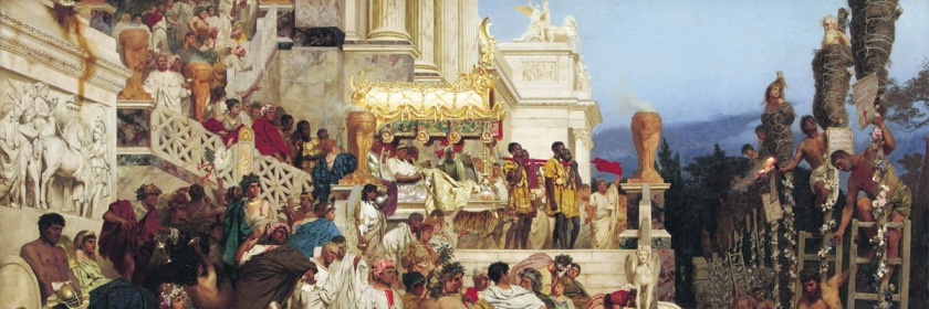 Painting of Nero's torches also referred to as Christian candlesticks by Henruk Siemiradzki (1843-1902) /Wikipedia