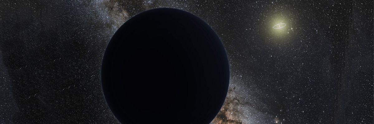Artist rendering of ninth planet hovering on the outer edge of our solar system. The bright light in the centre portrays Neptune orbiting the sun Credit: ESO/Tom Ruen/Nagualdesign -- NASA