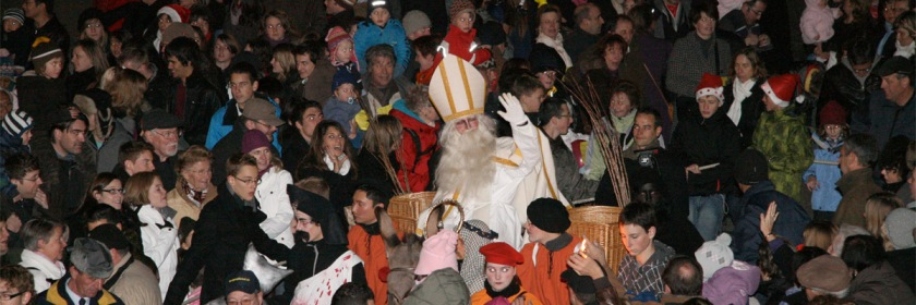 Feast of Saint Nicholas being celebrated in Firbourg, Switzerland on December 6, 2009 Credit: Chlempi/Wikipedia