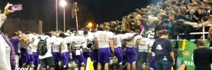 East Coweta football team gathering for prayer before a game. Credit: Fox News Youtube capture