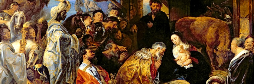 The Magi visiting Jesus by Flemish painter Jacob Jordaens (1593-1678)