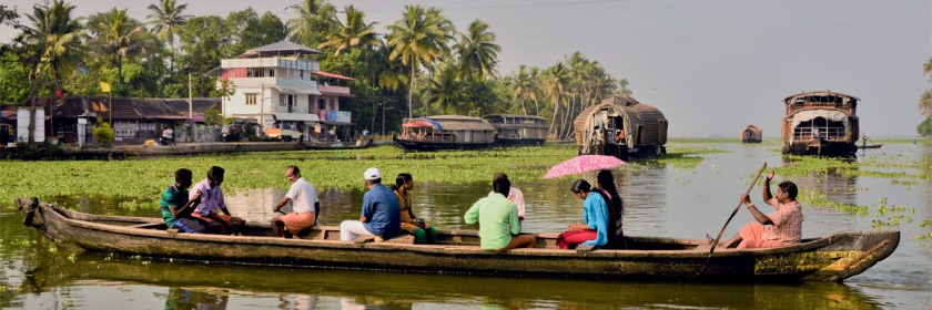 Crossing a river in Kerala State, India Credit: Michel Coutty/Flickr/Creative Commons