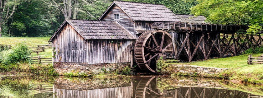 Old watermill in Mabry Mill, North Carolina Credit: Scott Sanford/Flickr/Creative Commons