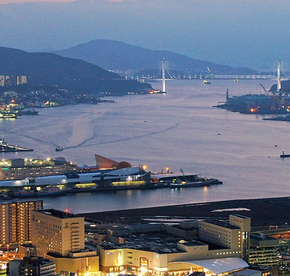Nagasaki, Japan located on Kyushu Island Credit: 663highland/Wikipedia