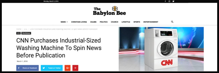 Babylon Bee headline on its CNN story Credit: The Babylon Bee
