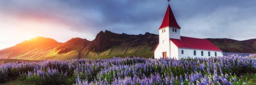 Rural church in Iceland