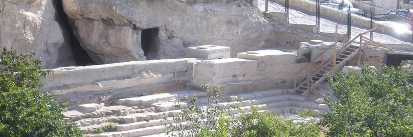 The pool of Siloam constructed by King Hezekiah. Since Jerusalem did not have a water source, its original inhabitants the Jebusites had constructed an access to the springs below the city. King David used this access to take the city. This led King Hezekian to construct a new access and pool to provide water that was much less vulnerable. Source: Wikipedia