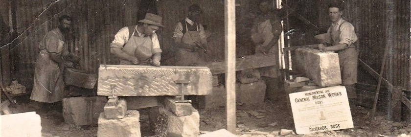 Stonemasons in the 1900s Credit: Aussie~mobs/Flickr/Creative Commons