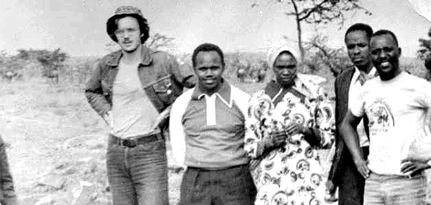 Sandy, second from the left, on his Nairobi adventure