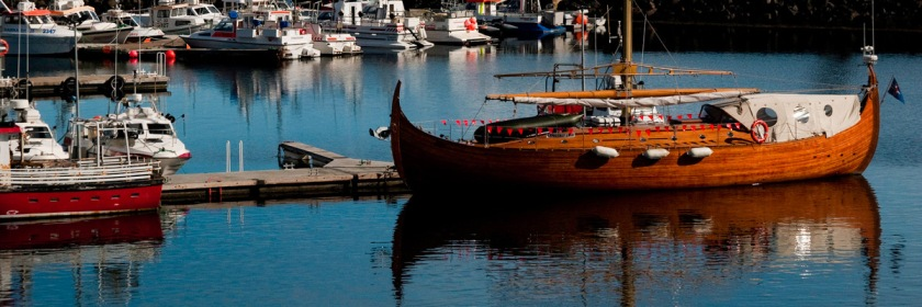 Viking boat replica in Iceland Credit: maveri4201/Flickr/Creative Commons