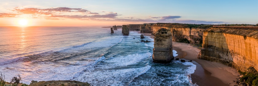 The 12 Apostles is a collection of 12 limestone stacks jutting out of the ocean on the southern coast of Australia Credit: Pablo Fernandez/Flickr/Creative Commons
