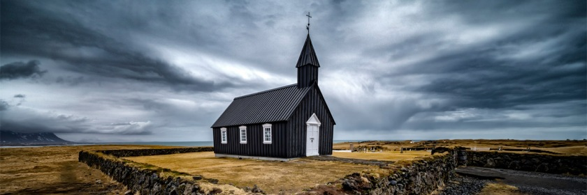 The Black Church of Buoakirkja in Iceland Credit: David Soldano/Flickr/Creative Commons