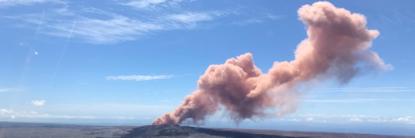 Volcanic column of smoke on Hawaii's Big Island taken May 7, 2018 Credit: macprohawaii/US Geological Survey/Flickr/Public Domain