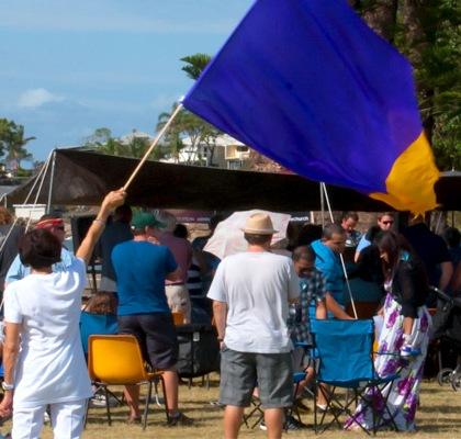 Redcliffe City Church worship service at the beach Credit: Leonard J Matthews/Flickr/Creative Commons