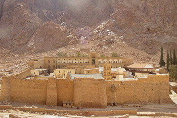 St. Catherine's Monastery located at the foot of the tradition site of Mt. Sinai in Egypt. Credit: Nick Leonard/Flickr/Creative Commons