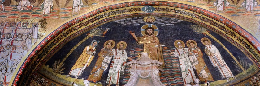 Mural on the ceiling of Santa Prassede Church, Rome Credit: Jean Louis Mazieres/Flickr/Creative Commons
