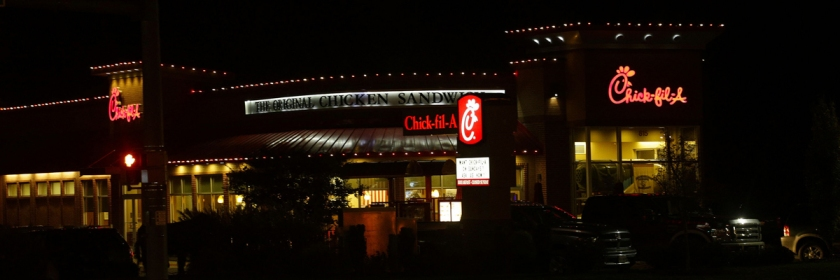 Chick-fil-a restaurant Credit: raymondclarkeimages/Flickr/Creative Commons