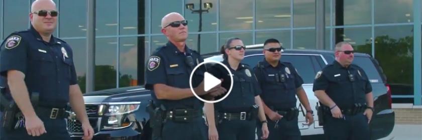 """Crandell Police singing """"God's Not Dead"""" Credit: Pure Flix/Facebook page capture"""
