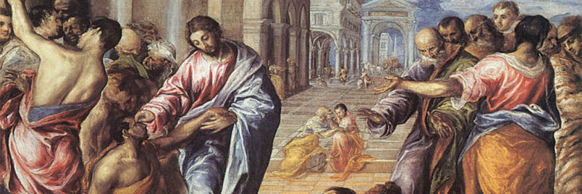 Jesus healing the blind man by El Greco (1541-1614) Credit: Wikipedia