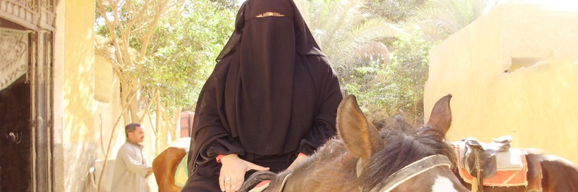 Woman wearing a niqab in Egypt. Credit: MezzoMezzo/Wikipedia/Creative Commons
