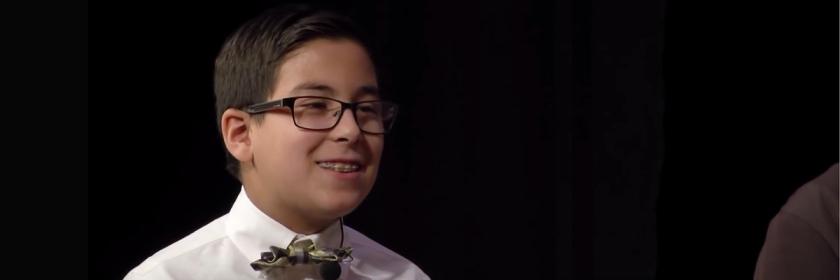 William Maillis, 11, being interviewed by HCHC Media Credit: HCHC Media/YouTube capture