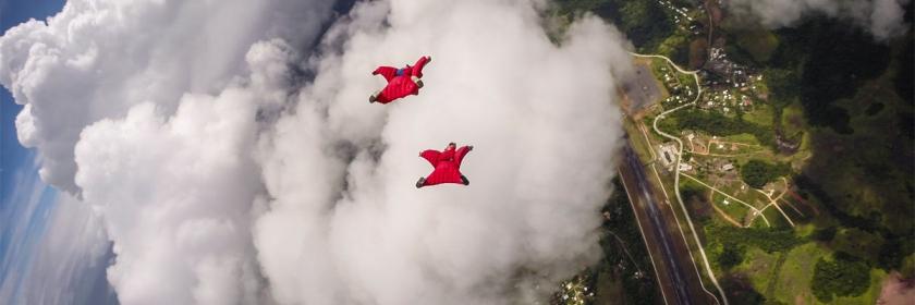 Sky diving over Palau Credit: Richard Schneider/Flickr/Creative Commons