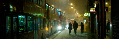 Snowy night on Brixton High Street in London, England Credit: A bloke called Jerm/Flickr/Creative Commons
