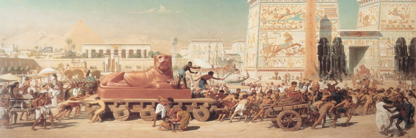 Israel captive in Egypt by Edward Poynter (1836-1919) Credit: Wikipedia/Creative Commons