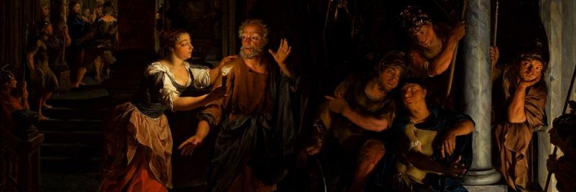 Peter's denial of Christ by Nikolaas Verkolje (1673-1746) Credit: Wikipedia/Creative Commons