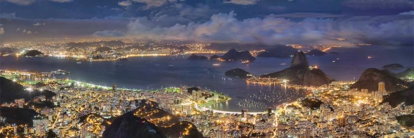 Rio De Janeiro, Brazil at night Credit: Rafael Defavari/Wikipedia/Creative Commons