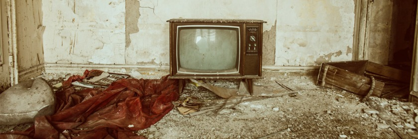 Television in abandoned home in Detroit, Michigan Credit: Thomas Hawk/Flickr/Creative Commons
