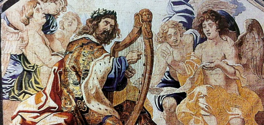 A tapestry of David playing a harp by Peter Paul Rubens (1577-1640) Credit: Wikipedia/Creative Commons