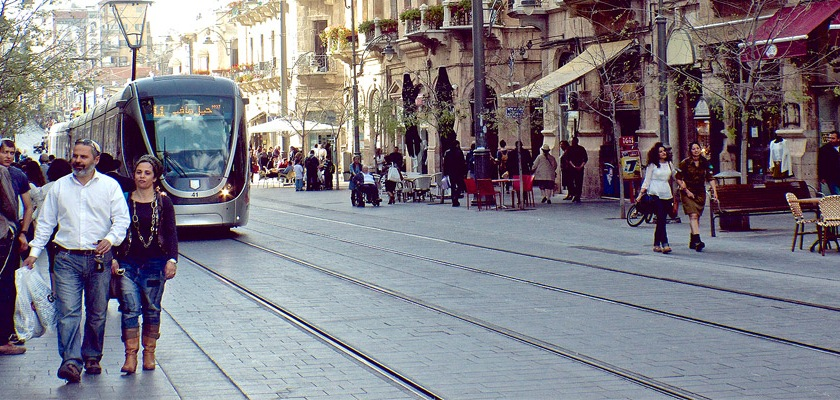 A main street in Jerusalem Credit: lab604/Flickr/Creative Commons