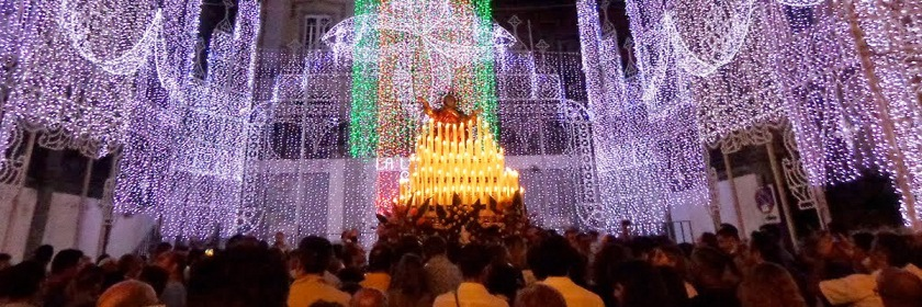Festival of the Assumption of Mary being held at a Roman Catholic church in Sicily. Credit: effems/Wikipedia/Creative Commons