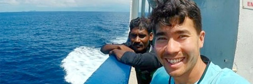 John Chau (R) Credit: Daily Mail
