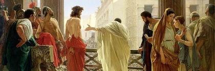 Pontius Pilate presenting Christ to the crowd by Antonio Ciseri (1821-1891)/Wikipedia