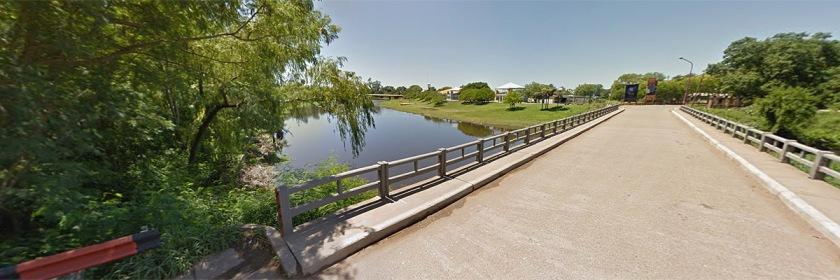 Bridge in Resistencia, Argentina going over Rio Negro River Credit: Google Earth
