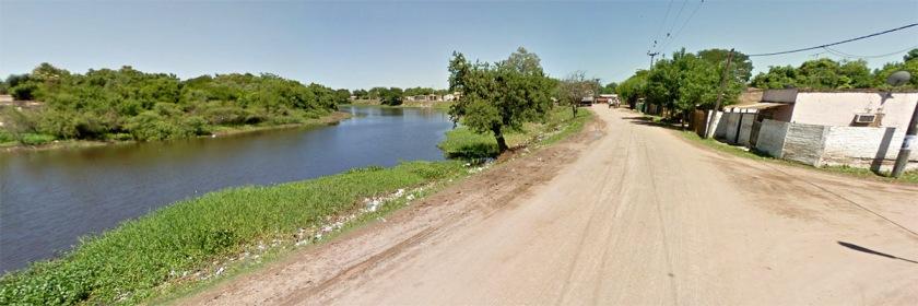 Rio Negro River in Resistencia, Argentina Credit: Google Earth