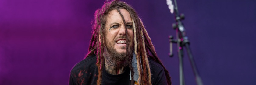 Brian Welch performing with Korn in Hockenheim, Germany in 2014. Credit: Sven Mandel/Wikipedia/Creative Commons