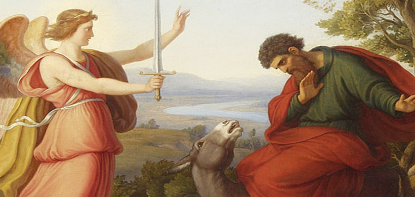 Balaam confronted by Angel of God by Gustav Jager (1808-1871): Wikipedia